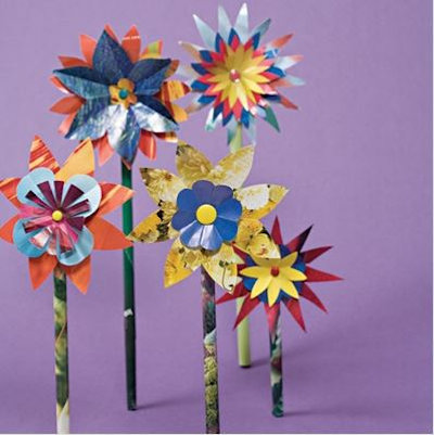 Glossy Paper Flowers