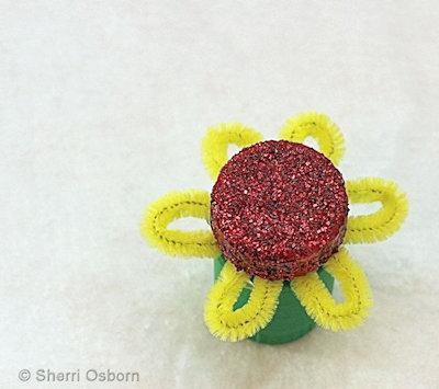 Pill Bottle Flower Craft