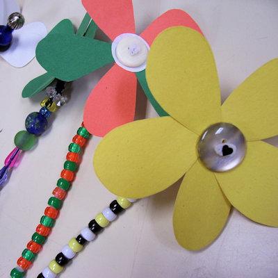 Button Flowers Craft