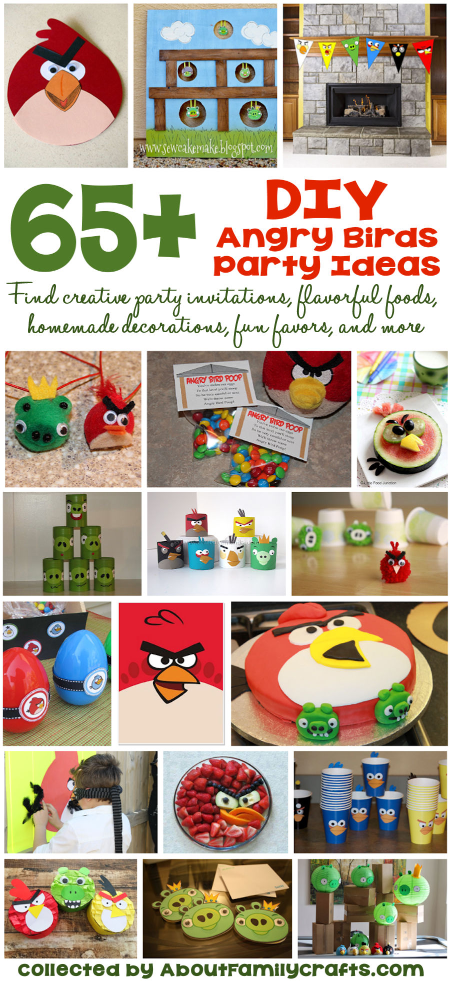 65 diy angry birds party ideas about family crafts for Angry birds birthday party decoration ideas