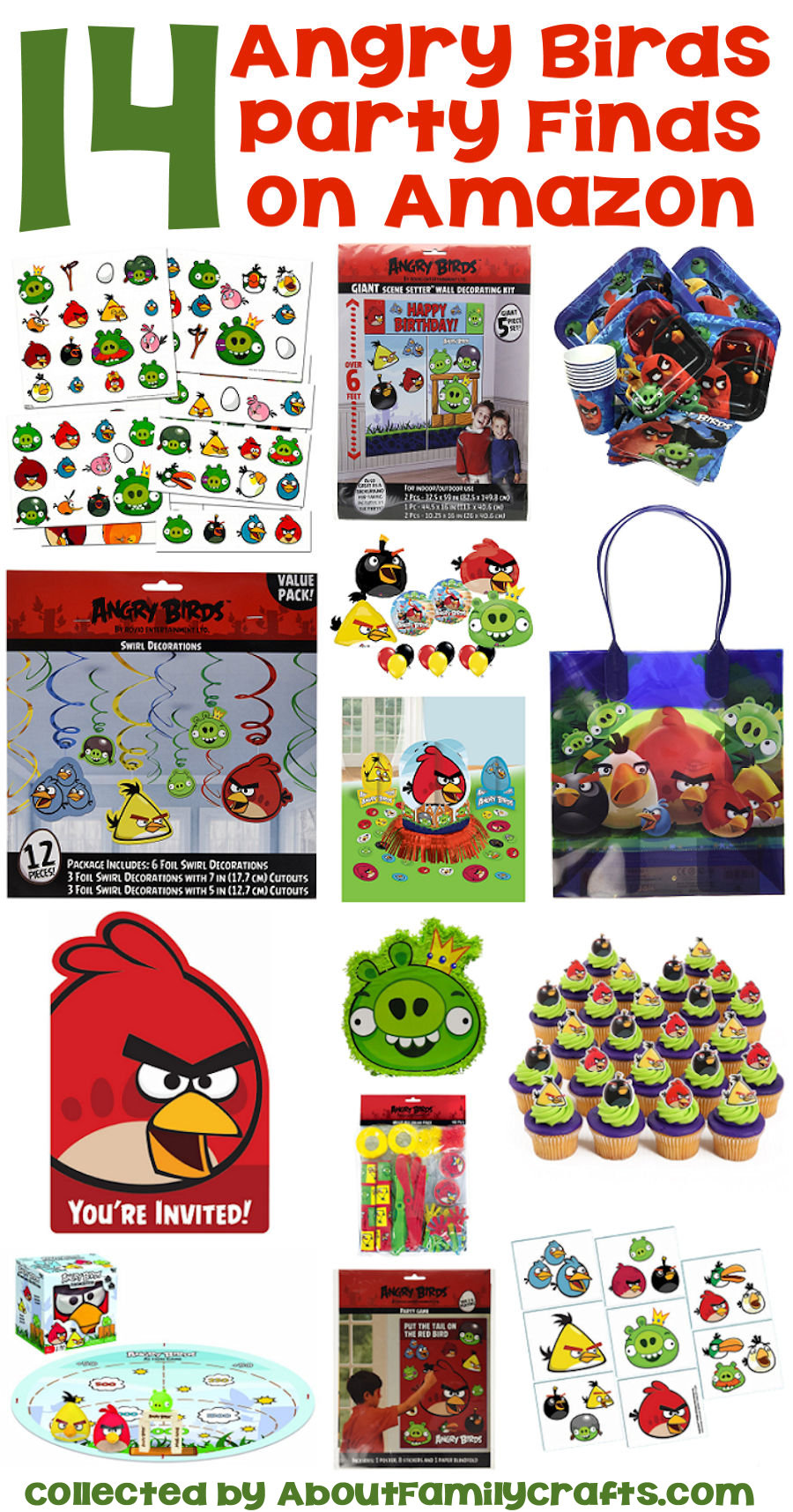 Amazing Angry Birds Party Finds on Amazon