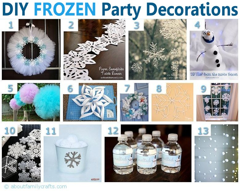 75+ diy frozen birthday party ideas – about family crafts Frozen Decoration Ideas