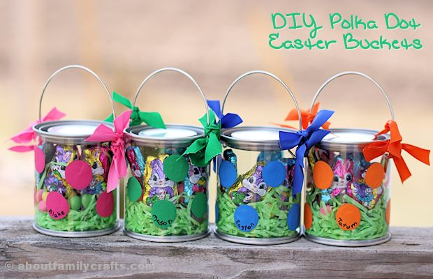 Perfect Polka Dot Easter Buckets – About Family Crafts QR07