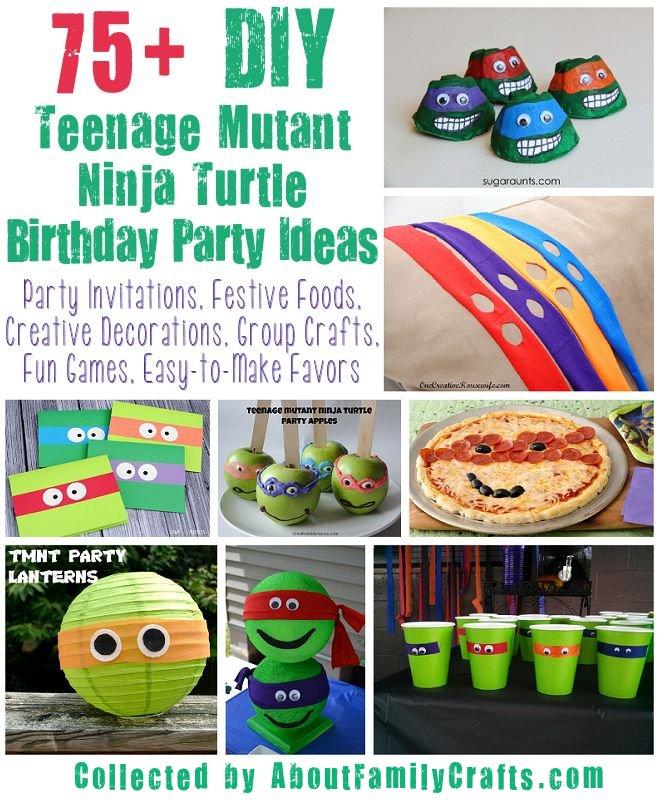 75 Diy Teenage Mutant Ninja Turtles Birthday Party Ideas About Family Crafts